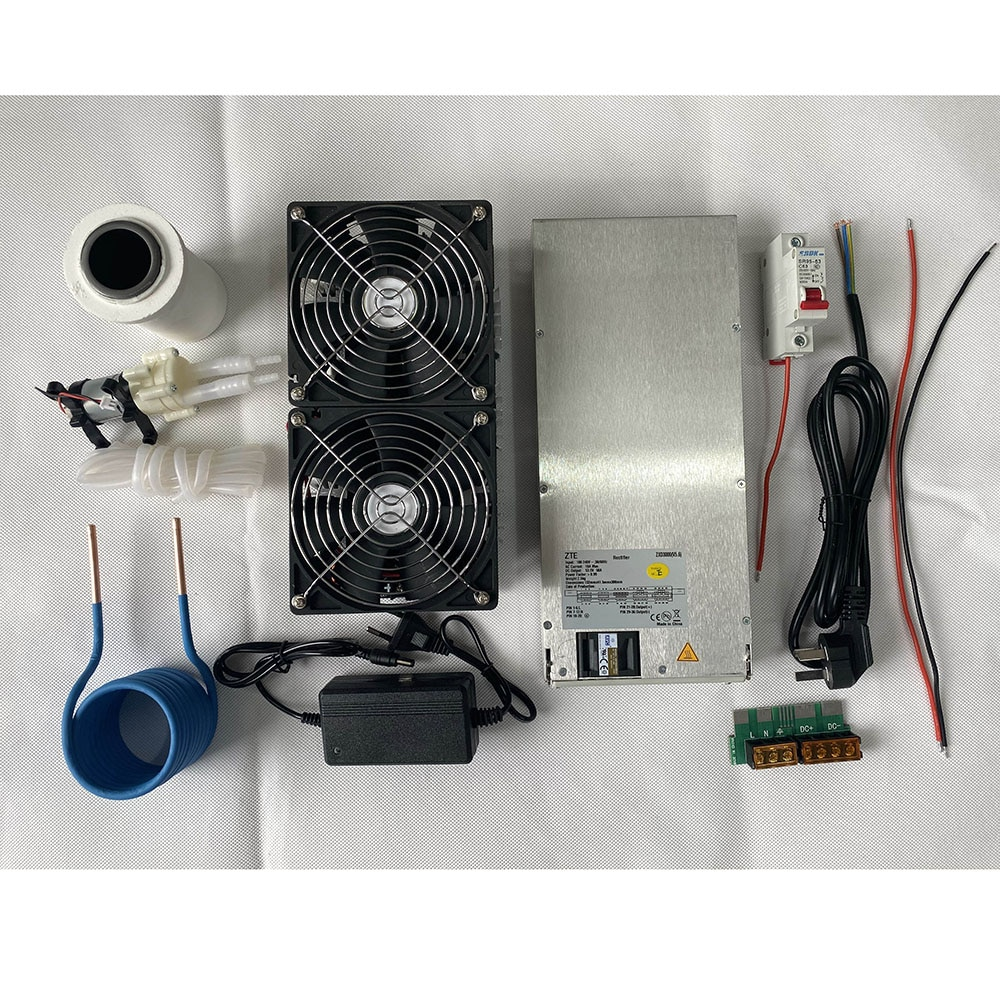 2500W ZVS Induction Heater Induction Heating PCB Board Heating Machine Melted Metal + Coil Mayitr+ Crucible+Pump+Power Supply enlarge