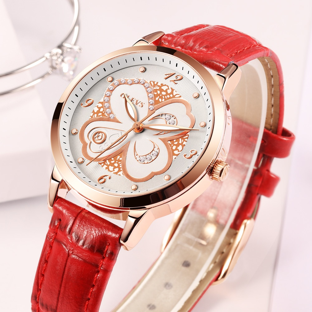 Manufacturer custom wholesale four-leaf clover three-leaf quartz ladies watch. GX-5188