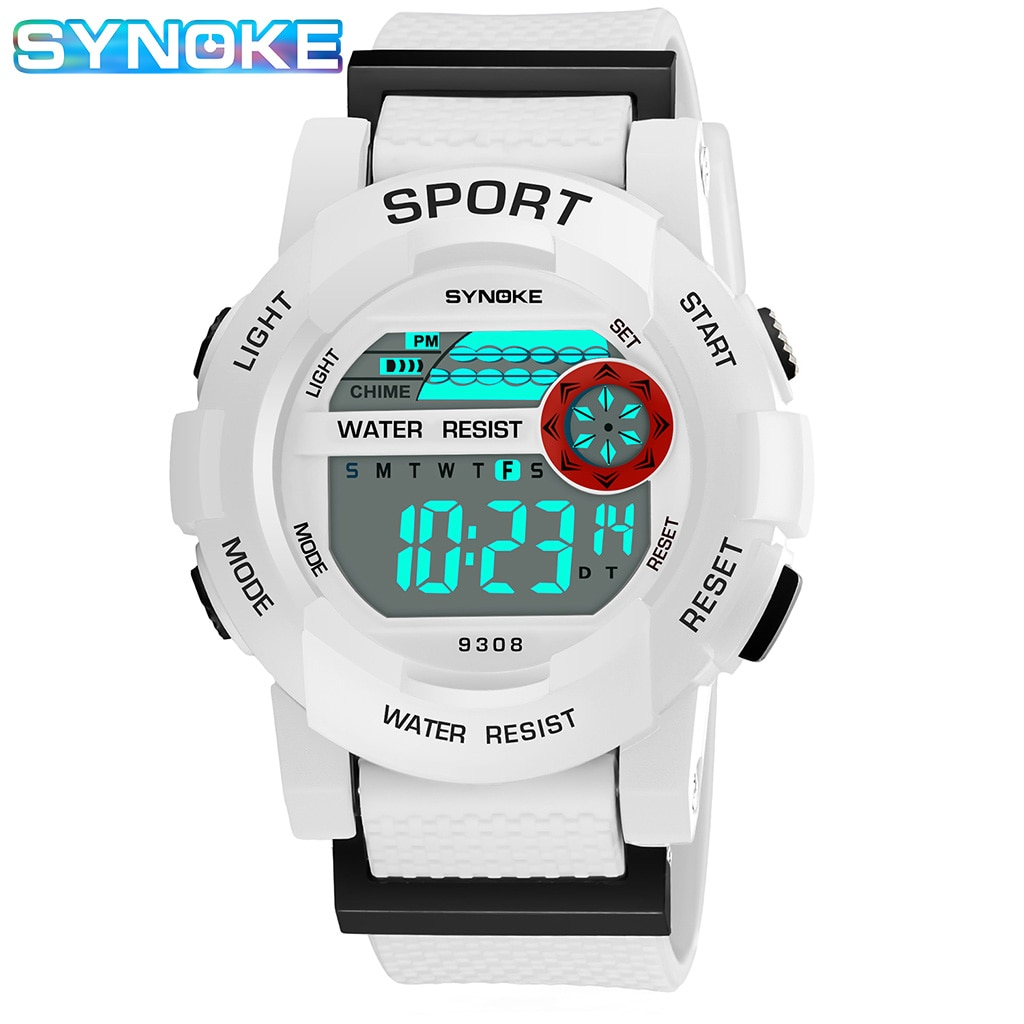 SYNOKE Students Watches Children Watches Waterproof LED Display Alarm Clock Electronic Kids Wristwatch Relogio Sports Watch