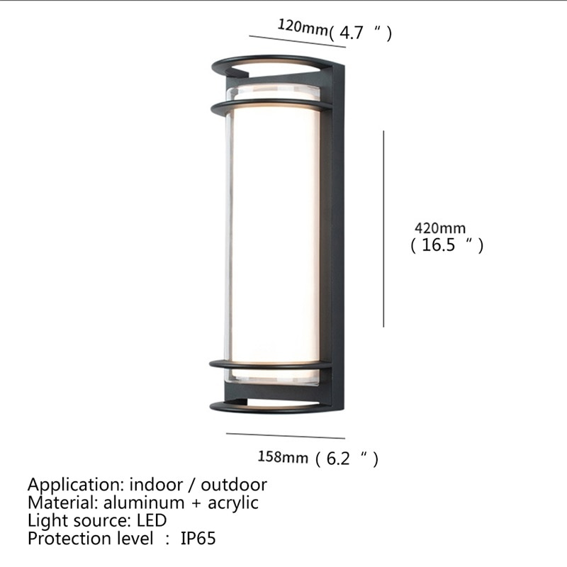 BROTHER Wall Sconces Light Outdoor Classical LED Lamp Waterproof IP65 Home Decorative For Porch Stairs enlarge