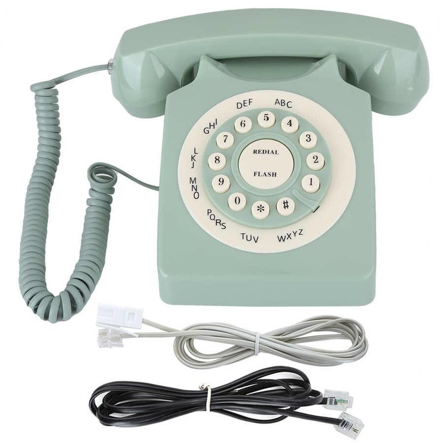 ريترو خمر الهاتف العتيقة الطراز الأوروبي القديم الهاتف سطح المكتب السلكية الهاتف الثابت الهاتف الثابت للمنزل مكتب الأعمال فندق