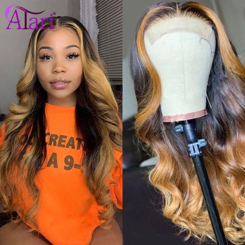 Ombre Brown Wig 13X4 HD Lace Frontal Wig Body Wave Wigs Indian Colored Human Hair Wigs Virgin Wholesale Price Wigs For Women