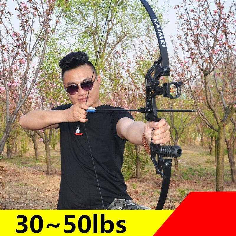 قوس منحني إحترافي جديد 30-50 رطل قوس رماية قوي للصيد الخارجي الرماية في الهواء الطلق للرياضة