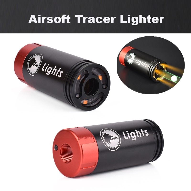 Paintball Airsoft Tracer Lighter 11mm/14mm Spitfire Effect With Fluorescence Tracer Auto Flamethrower For Shooting Rifle Pistol