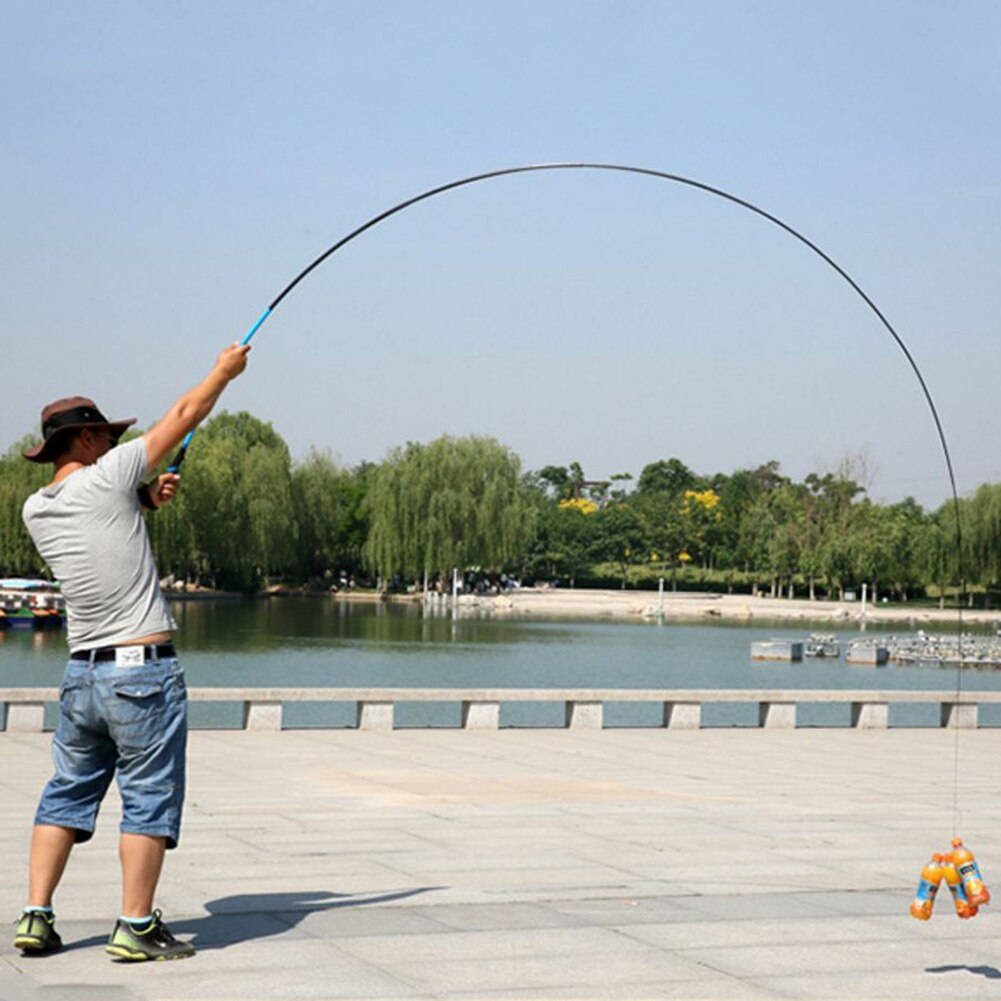 Super hard and super light fishing rod rod rod 3.6-6.3M carbon fishing rod super light carp flow hand rod carp feeder enlarge