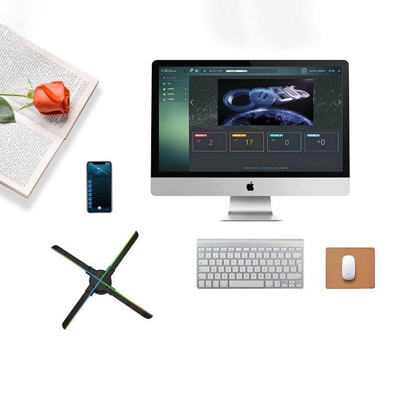 3D реклама вентилятор светодиод голографический изображение вентилятор плеер Bluetooth реклама бар магазин проектор свет украшение реклама вентилятор