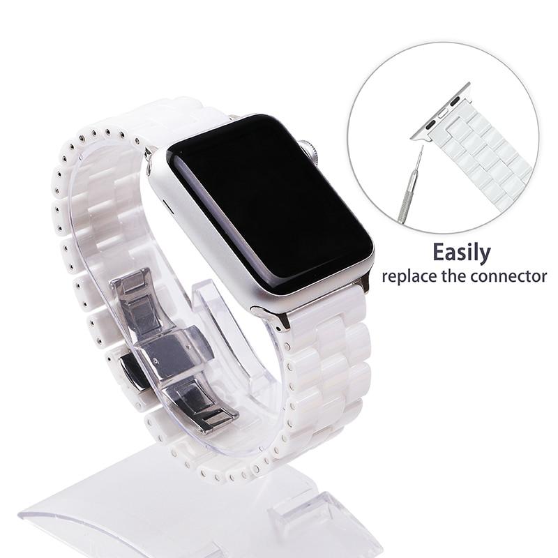 AliExpress - Ceramic Watchband 44mm for Apple Watch 38mm 42mm Smart Watch Band Link Strap Bracelet Ceramic Links Watchband for iWatch 40mm