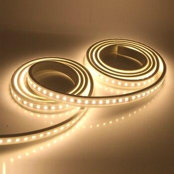 SMD4040 LED Strip AC 220V 240V 100Leds/m Waterproof Ribbon Tabe With IC 1M 2M 3M 4M 5M Flexible Light Led Tube Safety EU Plug