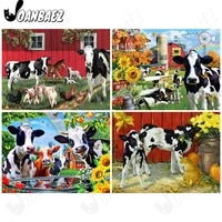 abstract cow animal diamond painting 5ddiy wall decoration farm sunflower diamond embroidery home decoration accessories gift
