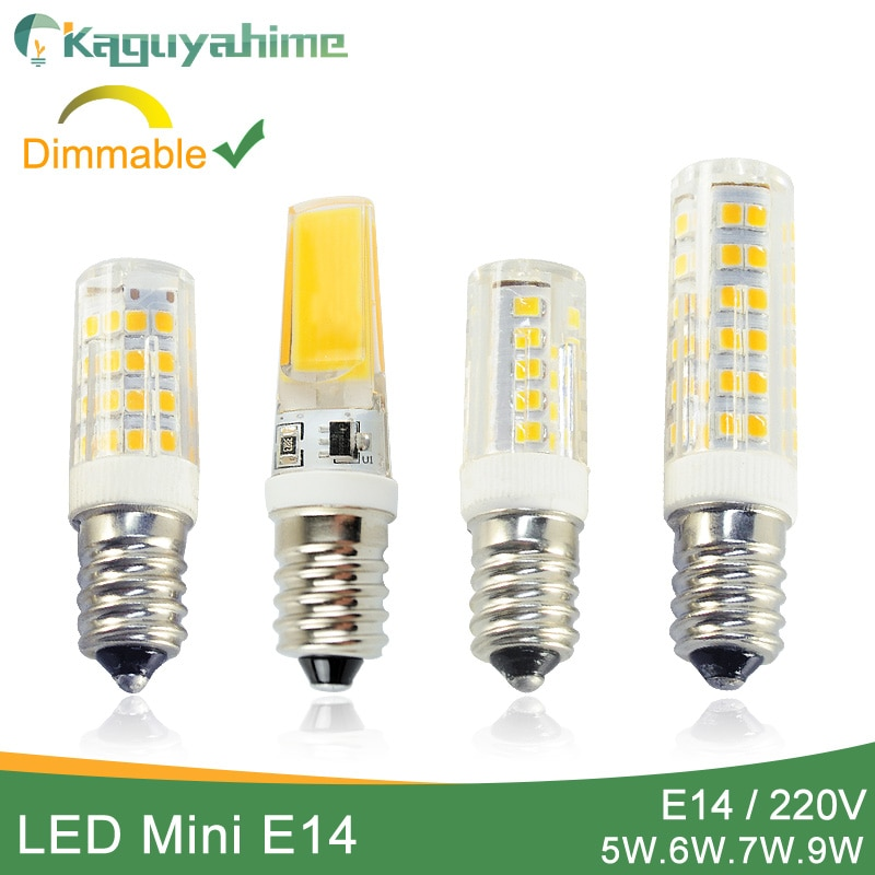 Kaguyahime Dimmable Mini Ceramics COB E14 LED Bulb Light 220V Led Lamp E14 5W 6W 7W 9W Candle Spotli