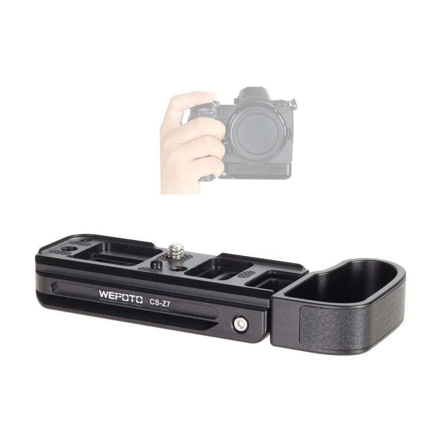 WEPOTO Z7 Grip Camera Quick Release Plate Handle Compatible with Nikon Z5 Z6 Z6II Z7 Z7II