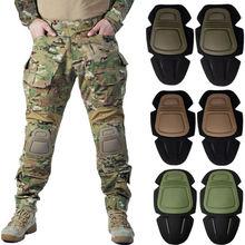 Rodilleras tácticas de combate Airsoft para exterior G3 Pantalones Pantalón Protector de rodilla caza patinete rodilleras