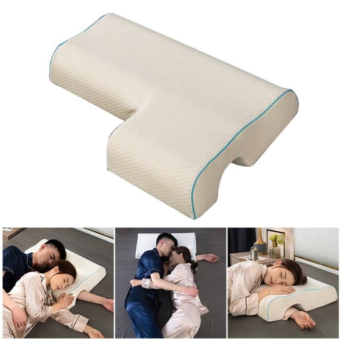 عالية الجودة الأزواج وسادة مقوس عناق انتعاش وسادة الذاكرة مع رغوة بطيئة للراحة الذراع وسادة اليد