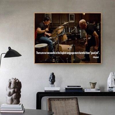 Filme whiplash inspirador citação poster arte lona cartaz sala de estar decoração da parede casa (sem moldura)