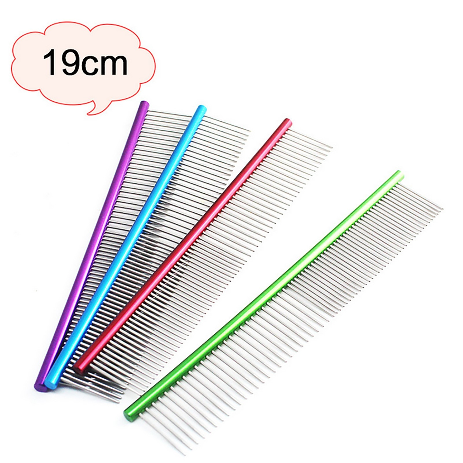 Pet Supplies 19cm High Quality Comb Professional Steel Grooming Cleaning Brush Gloves For Cats Dogs
