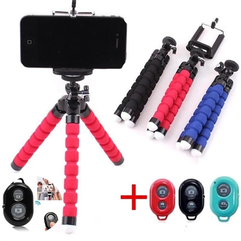 Mobile Phone Holder Flexible Octopus Tripod Bracket for Mobile Phone Camera Selfie Stand Monopod Sup