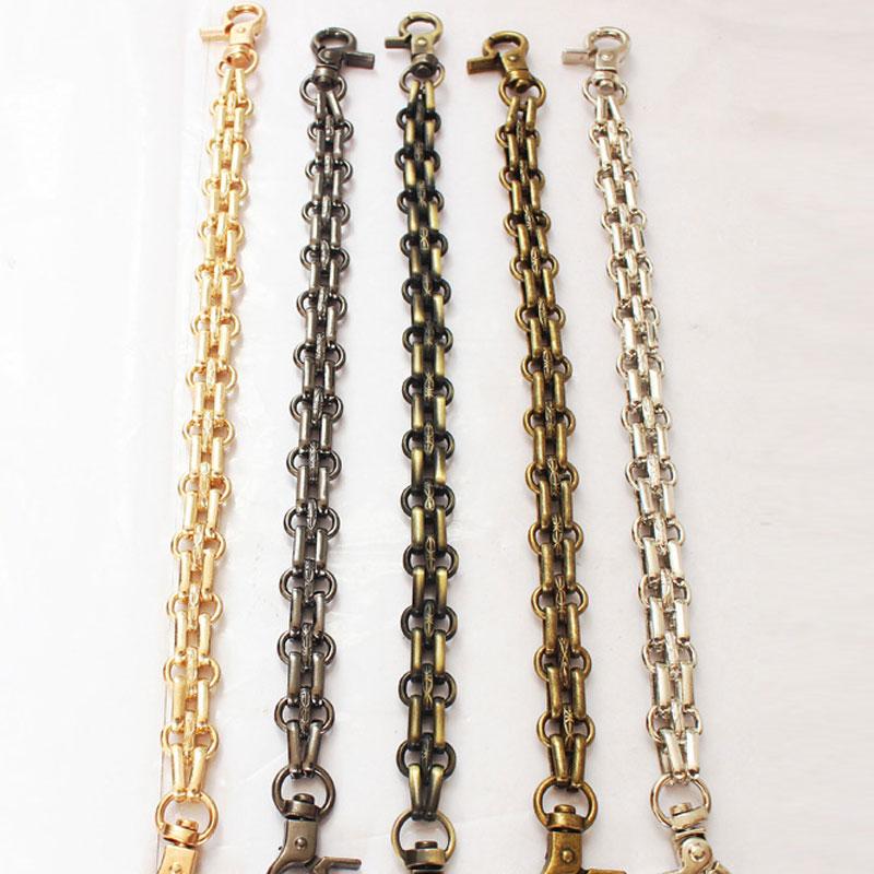 26 cm metal bolsa cinta de corrente feminina bolsa de substituição diy saco cinto corrente ouro prata preto alças saco acessórios anse de sac