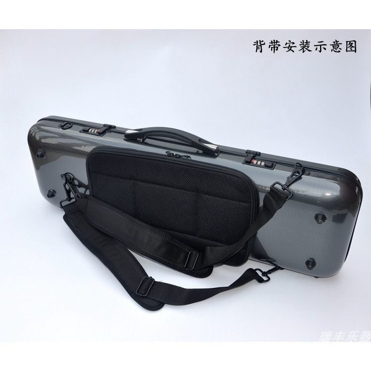 High Quality 4/4 Violin Carbon Fiber Case with Password Lock Hard Case Square Light Music Sheet Bag Free Shipping enlarge