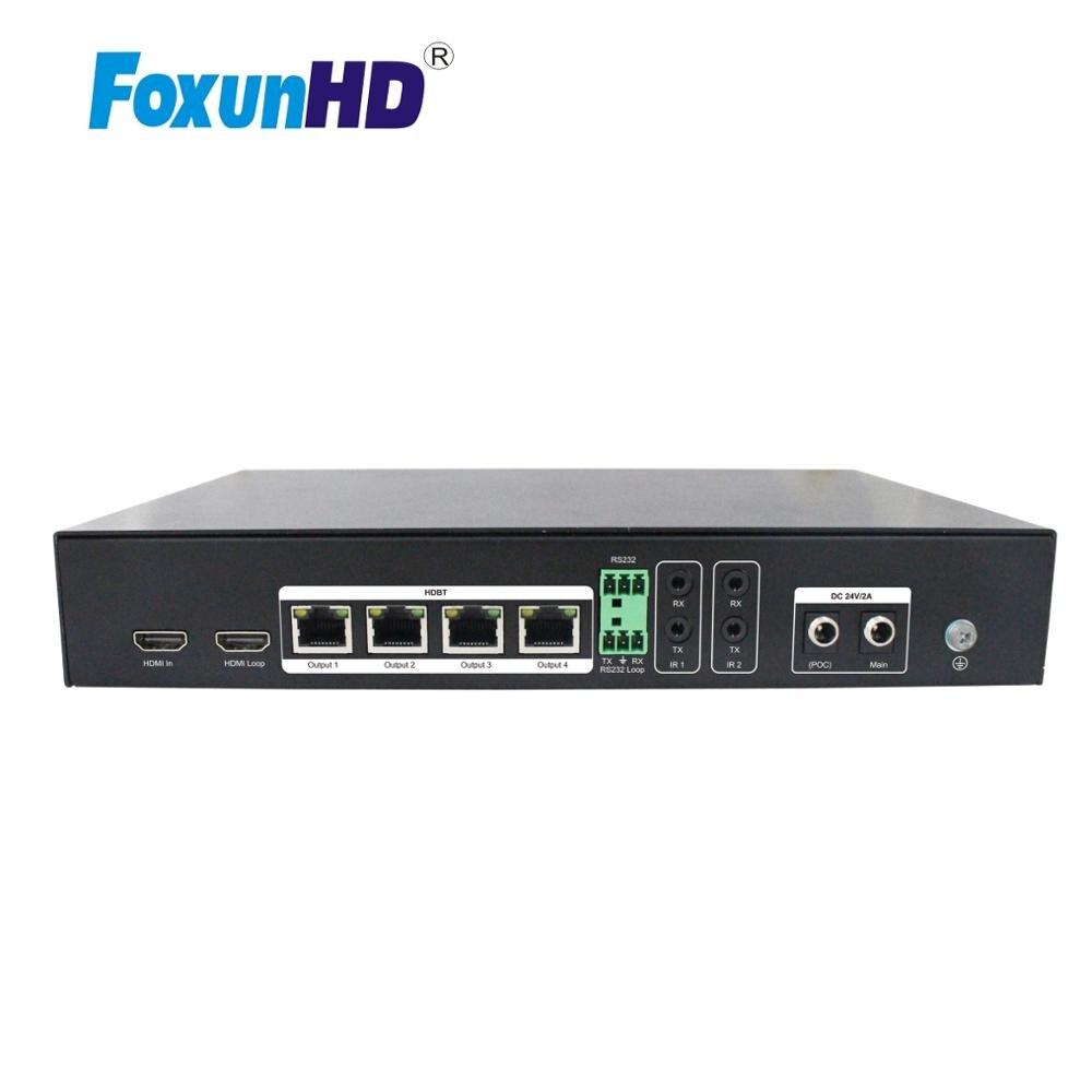 1x4 распределитель HDBaseT Поддержка RS232 EDID каскад 40M 4K @ 60hz YUV444 SPH05 1080P HDMI разветвитель 70M
