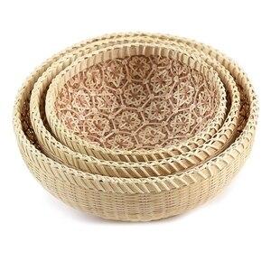 Handmade Wicker Woven Basket,Bread Baskets for Serving,Fruit Baskets, Kitchen Organizer, Handmade Basket,Wicker Basket