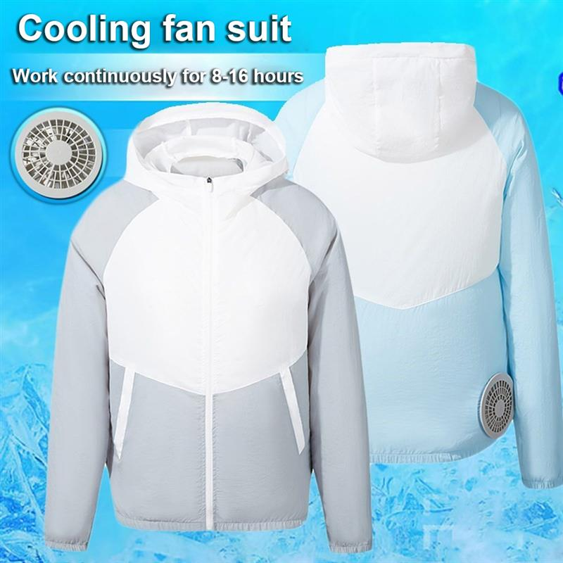 Cooling Jackets for Outdoor Summer Air Conditioning Fan Clothes USB Pure Cotton Heatstroke Proof Coat for Men Woman