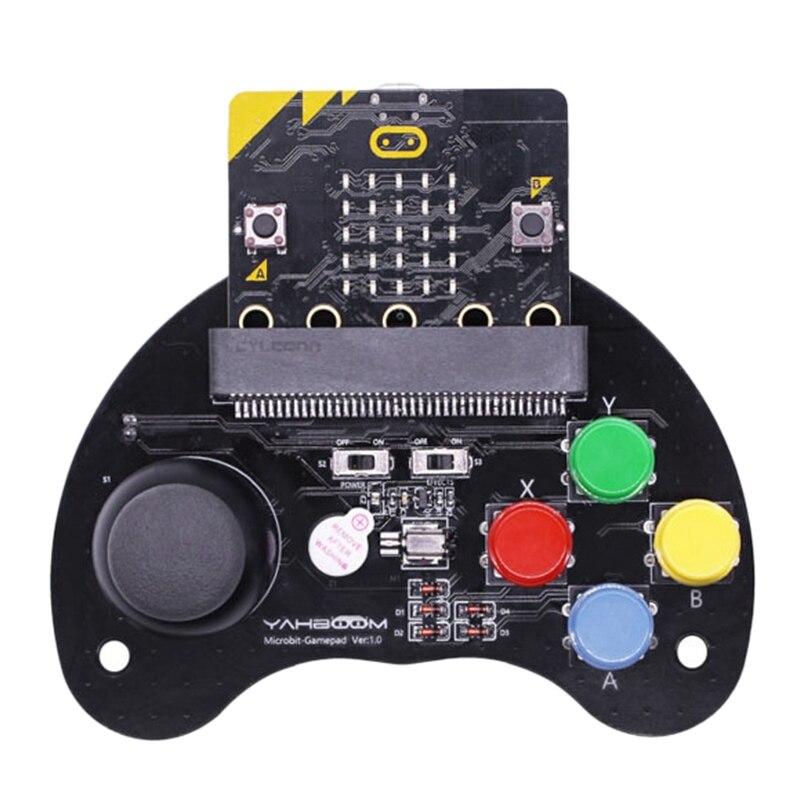 Para MicroBit Robot Control mango juego Joystick Stem educación gráfico programable mango juego máquina de juguete (sin MicroBit)