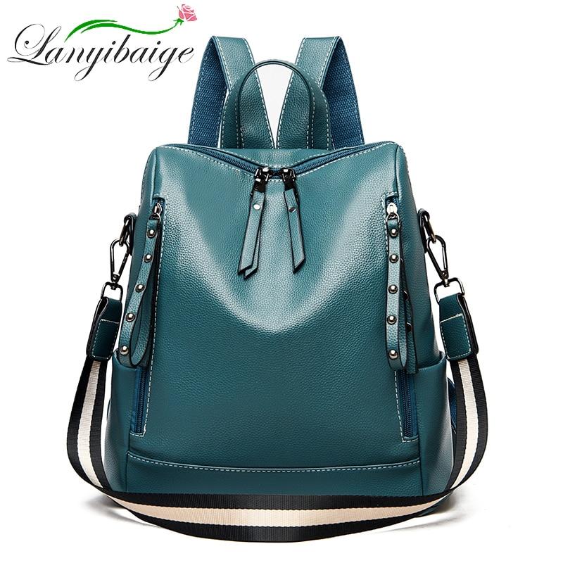 2020 New Women Backpack Designer high quality Leather Women Bag Fashion School Bags Large Capacity Travel Backpacks mochila