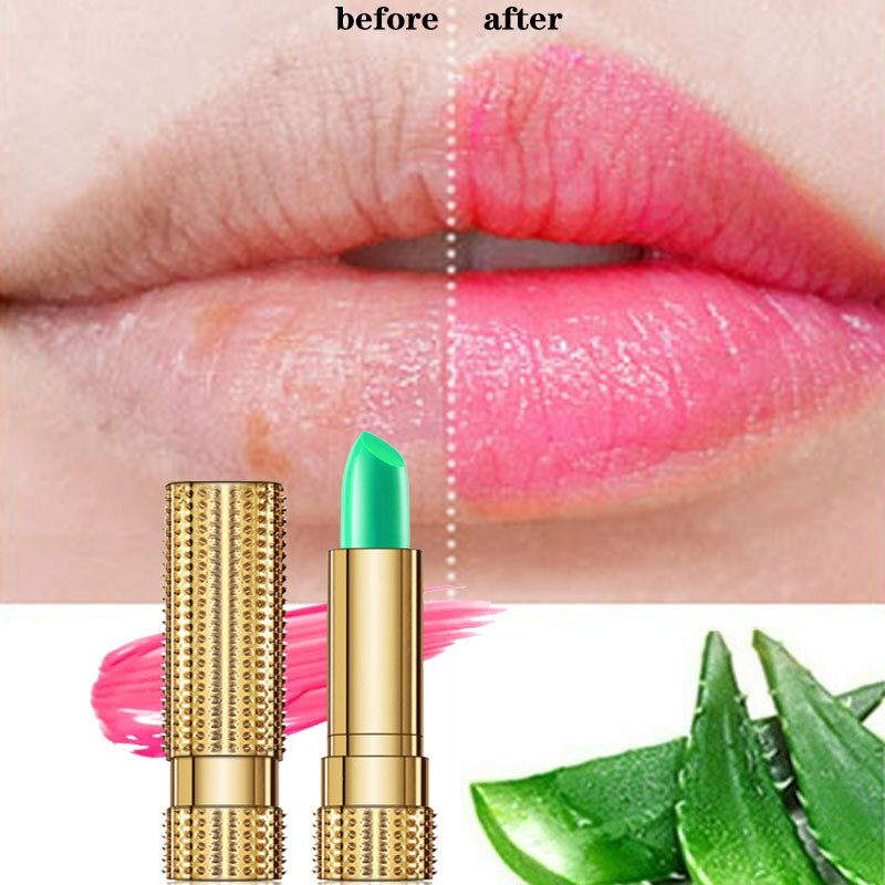 99% Aloe Vera Temperature Color Change Lipstick Moistourizing Lip Natural lasting Jelly Balm