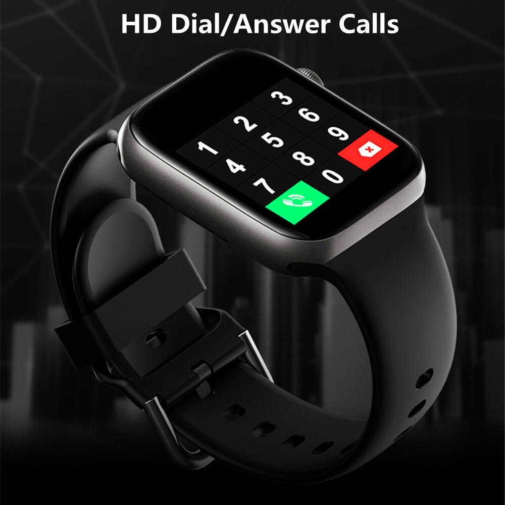 ساعة ذكية للرجال والنساء ساعة ذكية للاتصال الهاتفي مقاوم للماء اللياقة البدنية تعقب الموسيقى التحكم 2021 آيفون شاومي هواوي IWO + هدية