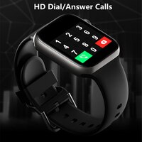 Умные часы для мужчин и женщин, часы с циферблатом и вызовом, водонепроницаемый фитнес-трекер, управление музыкой, 2021, для Iphone, Xiaomi, Huawei, IWO + по...
