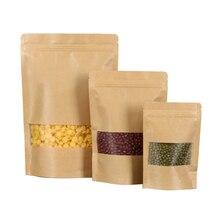 100 torby do pakowania żywności z matowym okienkiem, torby do pakowania żywności, torby stojące, zamknięte, wielokrotnego użytku