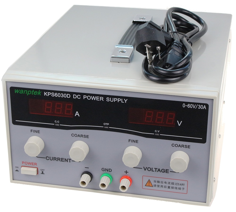 KPS6030D شاشة LED مزدوجة عالية الدقة قابلة للتعديل ، مصدر طاقة تيار مستمر 220 فولت ، الاتحاد الأوروبي 60 فولت/30 أمبير