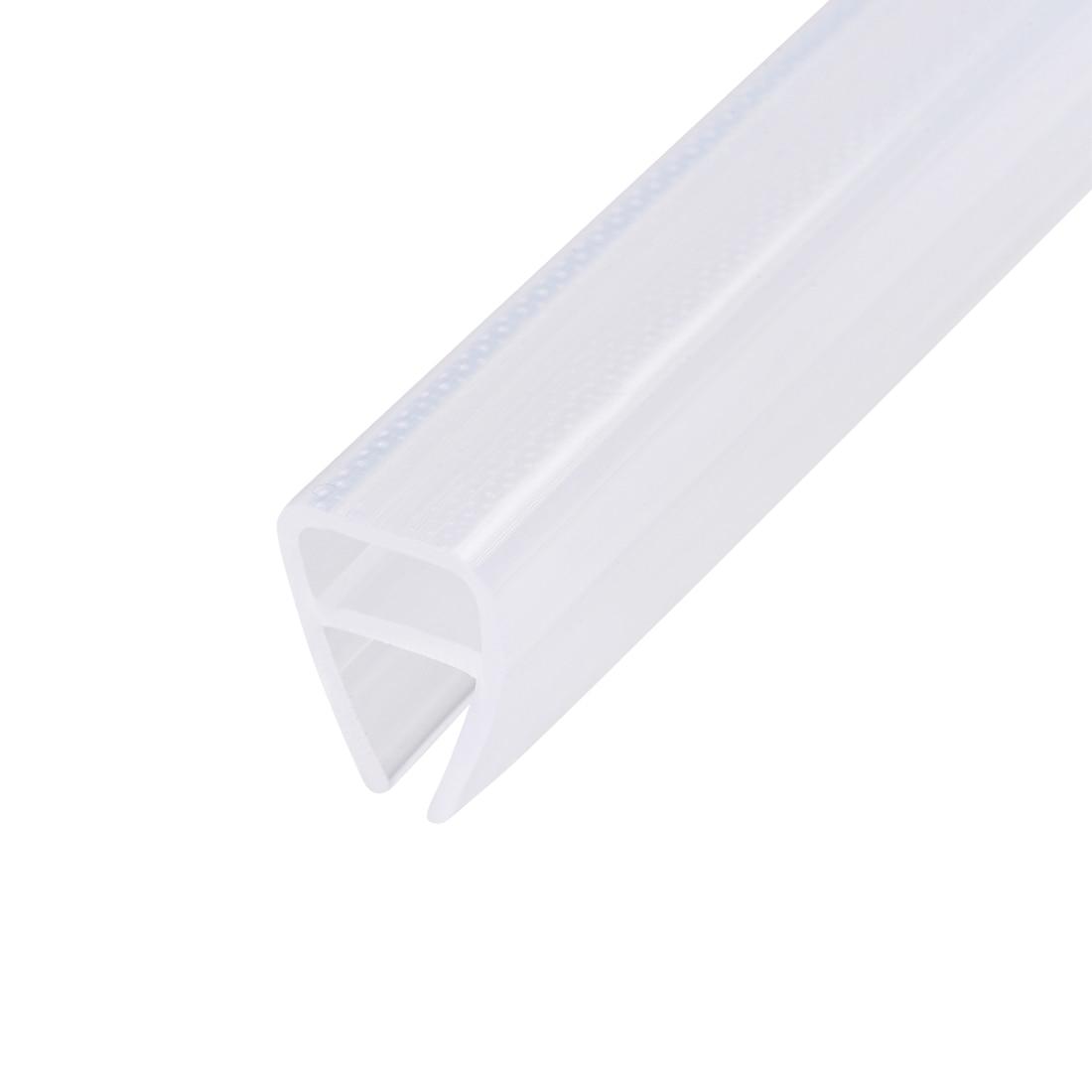 Uxcell, 1 Uds., puerta de ducha de vidrio sin marco, tira de sellado lateral inferior, tipo U, w 8mm, Riel de goteo, vidrio de 6-12mm x 1/2/3m de longitud