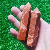 7 9cm natural quartz obelisk crystal wand point healing stone 2pc