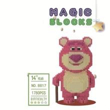 Funland america cartoon movie toys story micro diamond building block Lots O Huggin Strawberry bear nanobricks toys for gifts