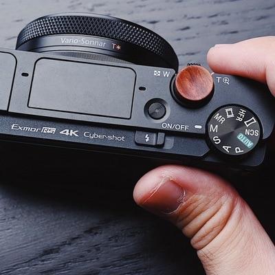 Cubierta de botón de madera con obturador para cámara SONY RX100 II III IV VI VII RX100vi RX100vii RX100M7 RX100M5 RX100M6 M7 M6