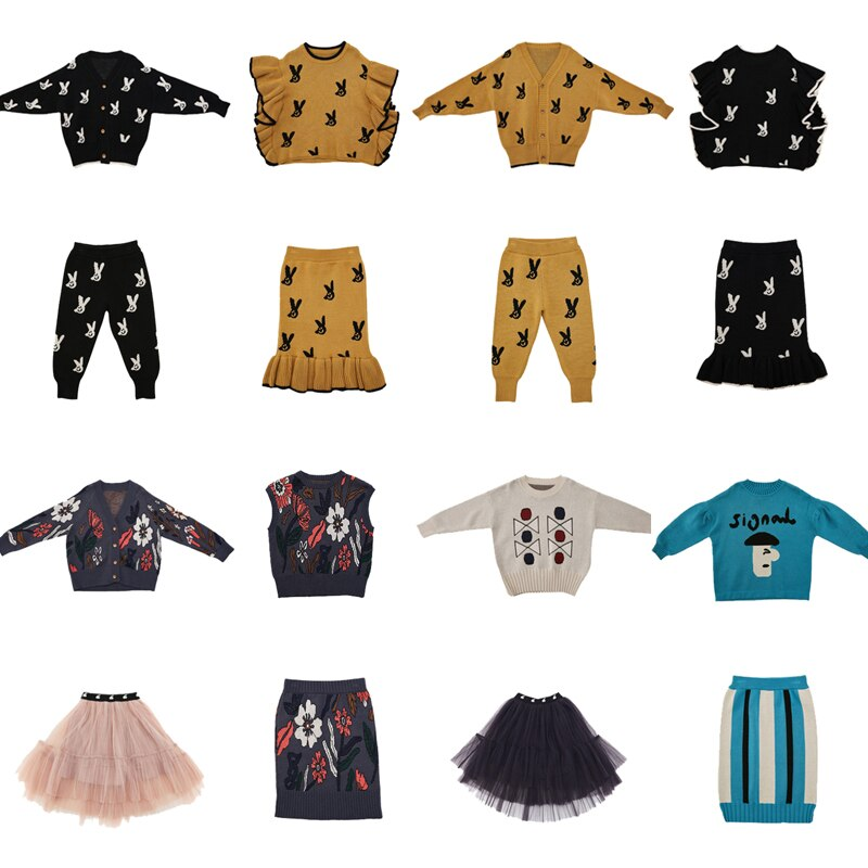 Limt Brand 2020 New Autumn Winter Kids Sweaters for Boys Girls Cute Print Knit Cardigan Baby Child Fashion Cotton Outwear Clothe