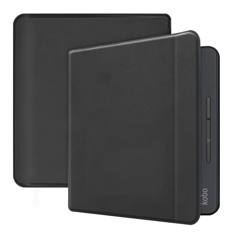 Ultra fino caso leve para kobo forma 2018 8 polegada flip tpu couro do plutônio ebook leitor de despertar automático sono inteligente capa