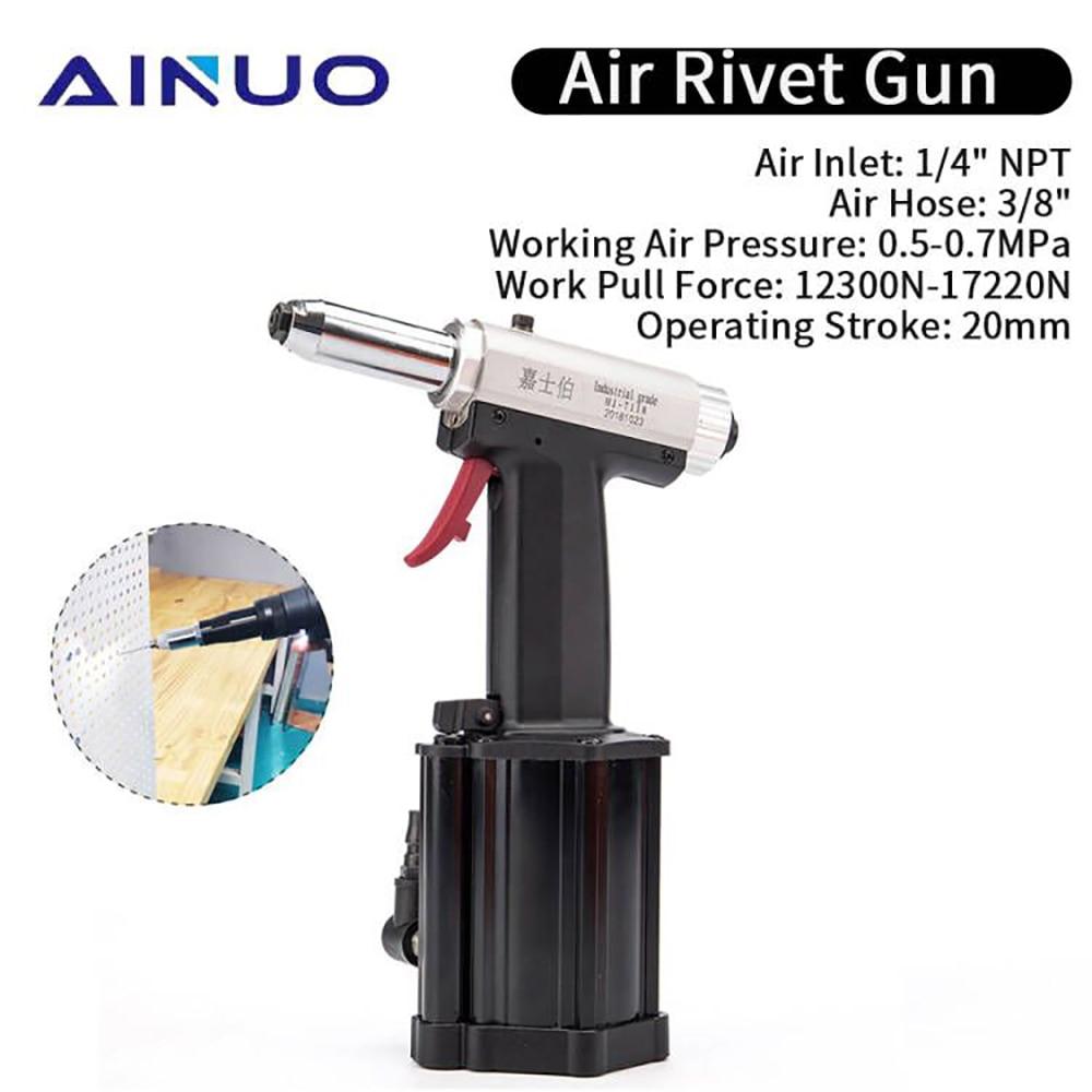 Pneumatic Blind Rivet Gun 2.4-4.8mm Air Nut Riveter Pistol Riveter Gun  Pop Pneumatic Riveting Gun Hand Tool