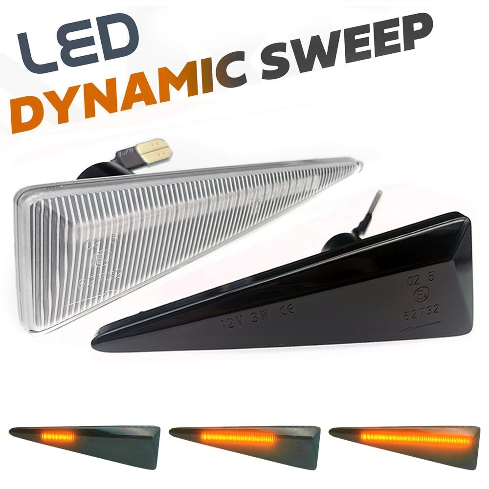 2Pcs Dynamische LED Seite Marker Licht Repeater Lampen Für Renault Scenic 2 Vel Satis Espace 4 Megane CC 2 thalia 2 Wind Avantime