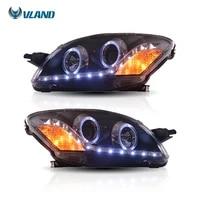 vland factory manufacturer 2th gen belta yaris sedan xp90 headlight 2008 2013 led headlight for toyota vios