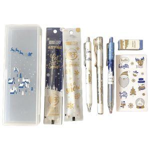 1 Set Kawaii Ice Festival Gel Pen Pencil Eraser Sticker Refill Black Ink Office School Supplies