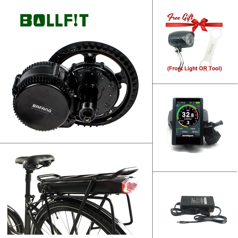Bollfit Bafang 8FUN 48V 750W BBS02B MMG320 M615 SW102 850C Rack Battery Function Mid Drive Electric Bike Motor Ebike Conversion