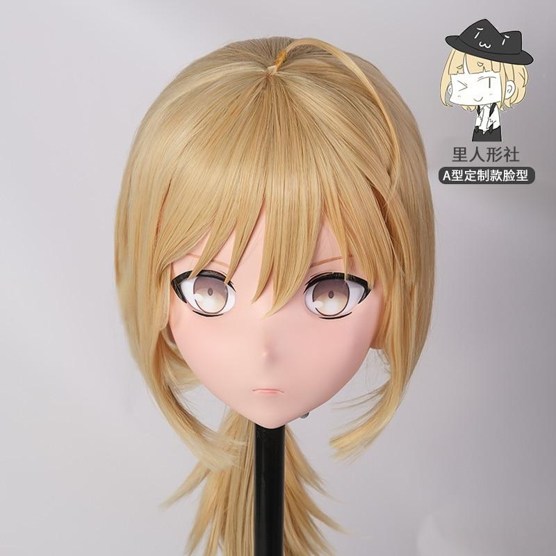 (A1-R)Custom Female/Girl Resin Cosplay Japanese Role Play Anime Kigurumi Mask Crossdresser Doll