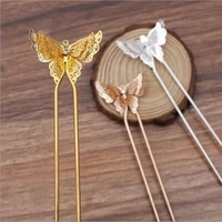 5pcs 25x35mm butterfly spacer hair accessories hair pin u shape hairpins side clip for diy hairpin daily life gift craft