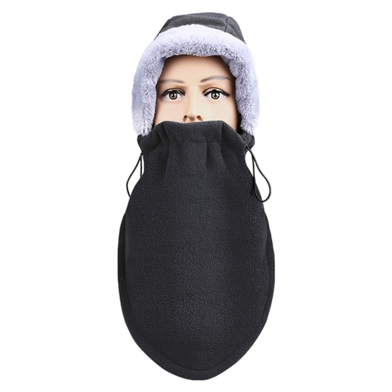 Winter riding mask hood full face electric vehicle windproof and rainproof face mask warm motorcycle