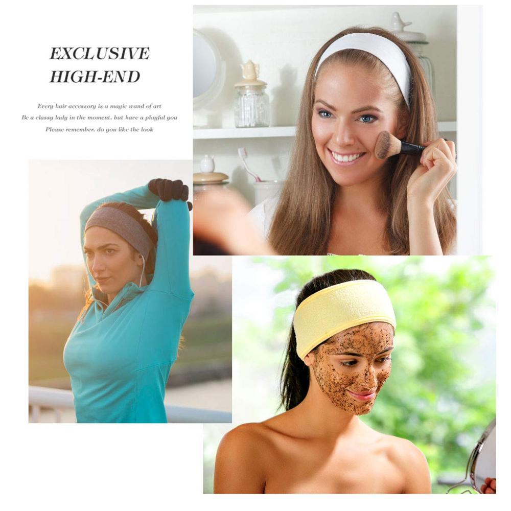 Ikat kepala lebar yoga mandian mandian mandian mandian mandian solek - Aksesori pakaian - Foto 6