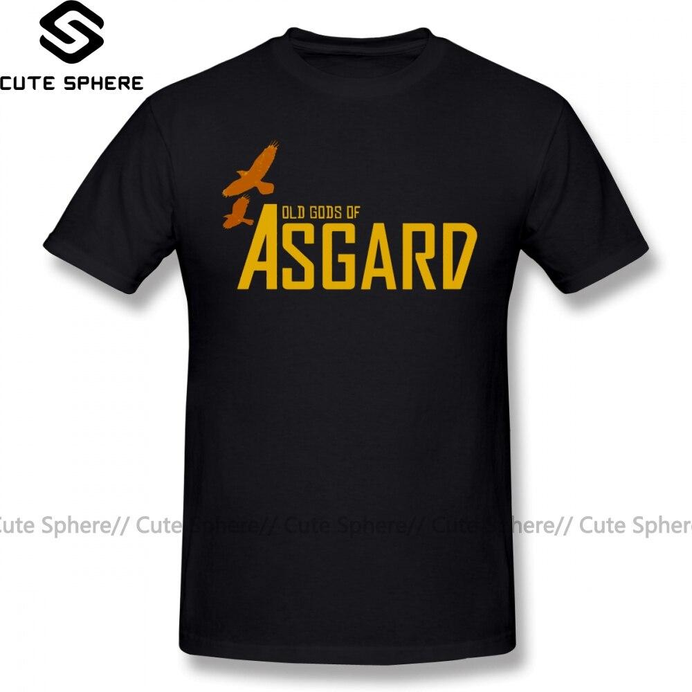 Camiseta Asgard de manga corta con estampado de dioses del Asgard, Camiseta clásica de gran tamaño con gráfico 100 de algodón, camiseta divertida para hombre