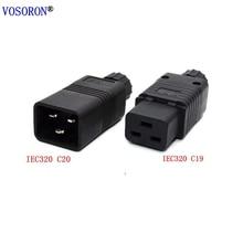 IEC320 C20 C19 Female Male Connector Power AC Power Plug PDU Rewireable power plug 15A 250V UPS Power plug