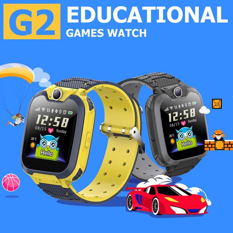 2021 NEW Children Smart Watches Play Game Play Music Camera Calculator SIM Card Phone Call Kids Smart Clock G2